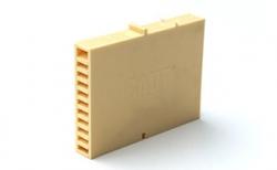 Вентиляционные коробочки для кирпичной кладки песочные 80х60х12 мм