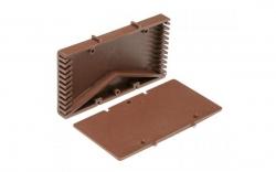 Вентиляционные коробочки для кирпичной кладки коричневые 115х60х12 мм