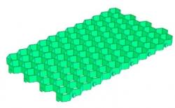 Решетка газонная Gidrolica Eco Standart РГ-70.40.3,2 кл. С250 пластиковая зеленая, 700*400*32,8 мм