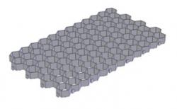 Решетка газонная Gidrolica Eco Standart РГ-70.40.3,2 кл. С250 пластиковая черная, 700*400*32,8 мм