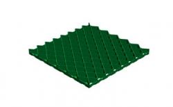 Решетка газонная Gidrolica Eco Pro РГ-60.60.4 кл. С250 пластиковая зеленая, 600*600*40 мм