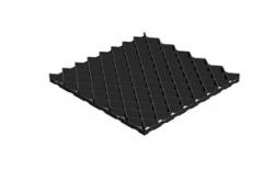 Решетка газонная Gidrolica Eco Pro РГ-60.60.4 кл. С250 пластиковая черная, 600*600*40 мм
