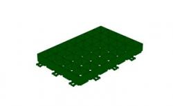 Решетка газонная Gidrolica Eco Super РГ-60.40.6,4 кл. D400 пластиковая зеленая, 600*400*64 мм