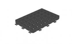 Решетка газонная Gidrolica Eco Super РГ-60.40.6,4 кл. D400 пластиковая черная, 600*400*64 мм