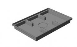 Придверный поддон Gidrolica Step Pro пластиковый, 600*400*64 мм