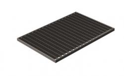 Придверная решетка Gidrolica Step Pro оцинкованная, 590*390*20 мм