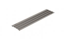 Решетка водоприемная Gidrolica Standart DN200 РВ-20.24.100 кл. А15 оцинкованная, 1000*236*20 мм