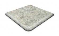 Клинкерная угловая ступень-флорентинер Gres Aragon Itaca Gris, 330*330*14(36) мм