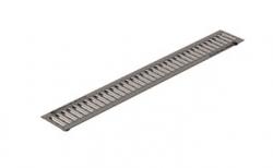 Решетка водоприемная Gidrolica Standart РВ-10.13,6.100 кл. А15 оцинкованная, 1000*136*20 мм