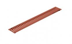 Решетка водоприемная Gidrolica Standart РВ-10.13,6.100 кл. А15 медная, 1000*136*20 мм