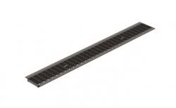Решетка водоприемная Gidrolica Standart РВ-10.13,6.100 кл. В125 оцинкованная, 1000*136*20 мм
