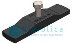 Крепеж для пластикового водоотводного лотка Gidrolica Pro / Super