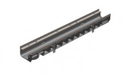 Лоток водоотводный Gidrolica Super DN100 ЛВ-10.14,5.10 кл. Е600, 1000*149*98,5 мм