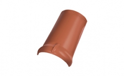 Керамическая черепица коньковая/хребтовая черепица Koramic №11 Natural Red