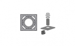 Верхний комплект для дымохода SCHIEDEL UNI без вентиляционного канала под обмуровку кирпичом, D 20 см