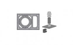 Верхний комплект для дымохода SCHIEDEL UNI с вентиляционным каналом под обмуровку кирпичом, D 20 см