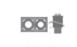 Верхний комплект для дымохода SCHIEDEL UNI без вентиляционного канала под обмуровку кирпичом, D 14/16 см