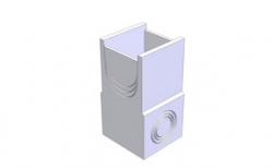 Пескоуловитель односекционный Gidrolica BGU DN400 кл.С250, 500*540*1000 мм