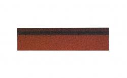 Коньково-карнизная черепица SHINGLAS, микс красный