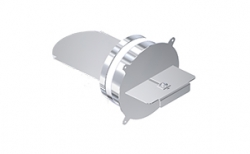 Комплект шибера для дымохода SCHIEDEL UNI универсальный (1 шибер), D 16ш16 см
