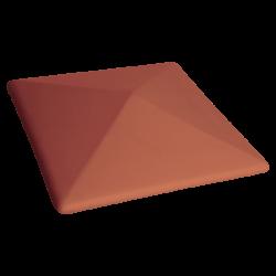 Клинкерная шляпа для забора King Klinker 01 Ruby-red