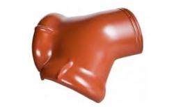 Керамическая черепица вальмовая начальная Koramic №11 Red Engobe