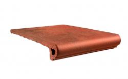 Клинкерная ступень-флорентинер Gres Aragon Antic Cuero, 330*325*18(53) мм