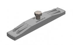 Крепеж для пластикового водоотводного лотка Gidrolica DN150, 176*28*15 мм