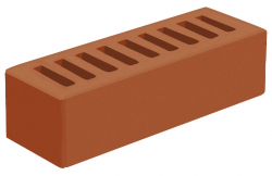Кирпич евро лицевой красный 'Корица' с гладкой поверхностью