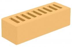 Кирпич евро лицевой желтый 'Янтарь' с гладкой поверхностью