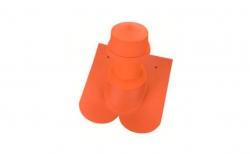 Керамическая черепица проходная для вентиляции Koramic Biber Natural Red