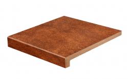 Клинкерная ступень с прямым носиком Gres Aragon Mytho Rubino, 330*325*18(40) мм