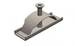 Крепеж для бетонного водоотводного лотка Gidrolica DN 100, 95*30*27 мм