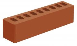 Кирпич ИК-2 лицевой красный 'Корица' с гладкой поверхностью