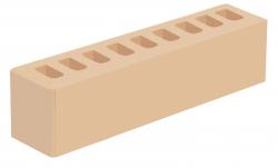 Кирпич ИК-2 лицевой желтый 'Слоновая кость' с гладкой поверхностью