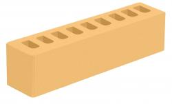 Кирпич ИК-2 лицевой желтый 'Янтарь' с гладкой поверхностью