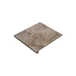 Gres de Aragon Peldano Rocks Gris ступень с капиносом прямая 30×33