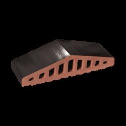 Профильный кирпич для забора King Klinker 17 Onyx black