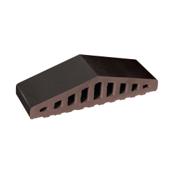 Профильный кирпич для забора King Klinker 18 Volcanic black