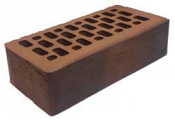 Кирпич лицевой коричневый 'Милан' с поверхностью Руст