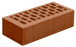Кирпич лицевой коричневый 'Терракотовый' с поверхностью Береста