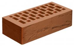 Кирпич лицевой коричневый 'Терракотовый' с поверхностью Руст