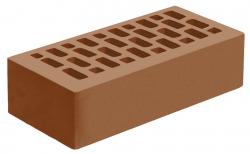 Кирпич лицевой коричневый 'Терракотовый' с гладкой поверхностью