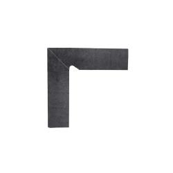 Paradyz Bazalto Grafit плинтус левый 2-х элемент. 8,1×30