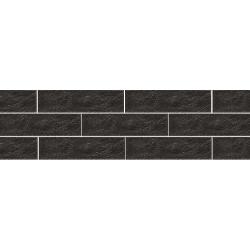 Paradyz Scandiano Nero плитка фасадная структурная 6,6×24,5