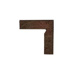 Paradyz Semir Brown плинтус правый структурный 2-х элем 8,1×30
