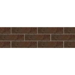 Paradyz Semir Brown плитка фасадная структурная 6,6×24,5