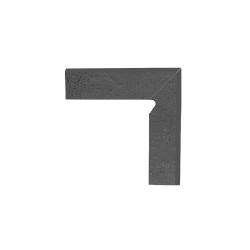 Paradyz Semir Grafit плинтус правый структурный 2-х элем 8,1×30