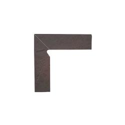 Paradyz Semir Rosa плинтус левый структурный 2-х элем 8,1×30