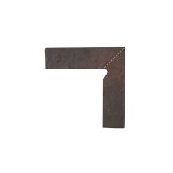 Paradyz Semir Rosa плинтус правый структурный 2-х элем 8,1×30